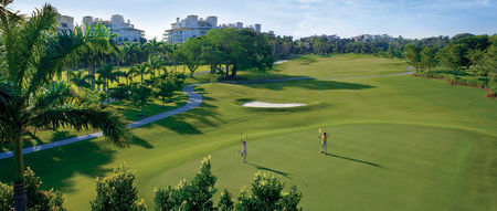 Overview of golf course named Fisher Island Club