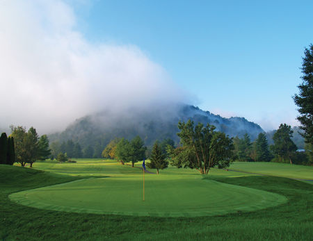 Overview of golf course named Green Meadow Country Club