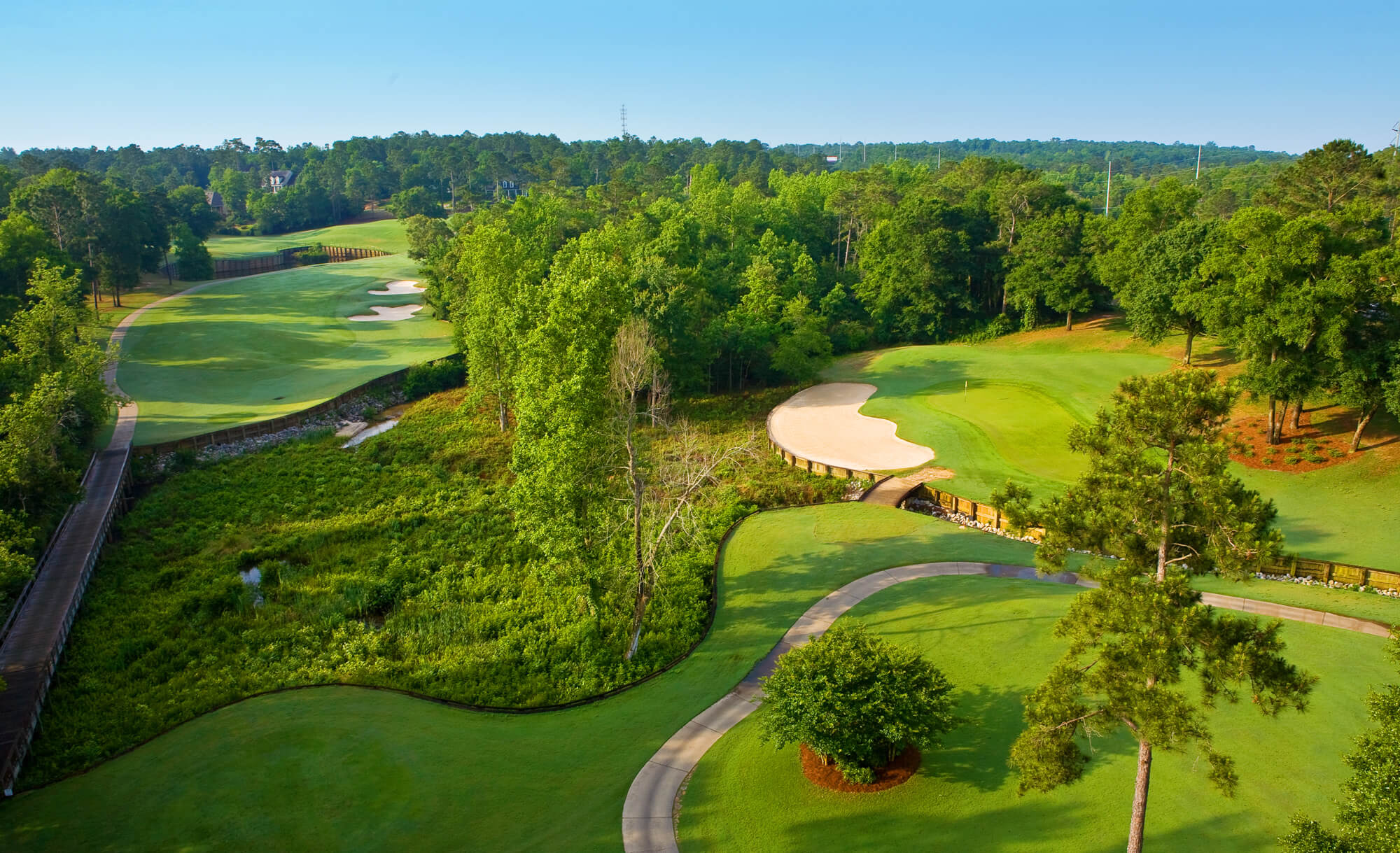 Overview of golf course named Rock Creek Golf Club