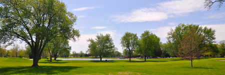 Overview of golf course named Lakeside Country Club