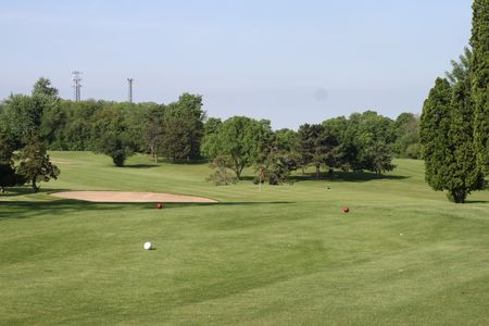 Red barn golf course cover picture