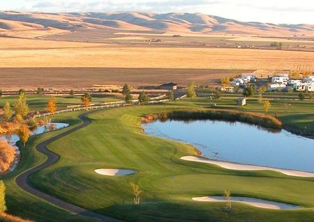 Overview of golf course named Wildhorse Resort Golf Course