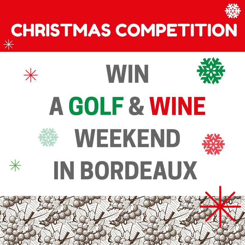 Cover of golf event named Win a free golf and wine weekend in Bordeaux for 2