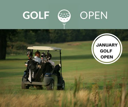 Cover of golf event named January Golf Open
