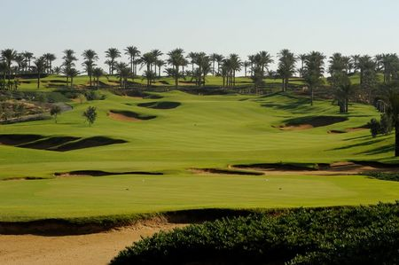 Overview of golf course named Katameya Dunes