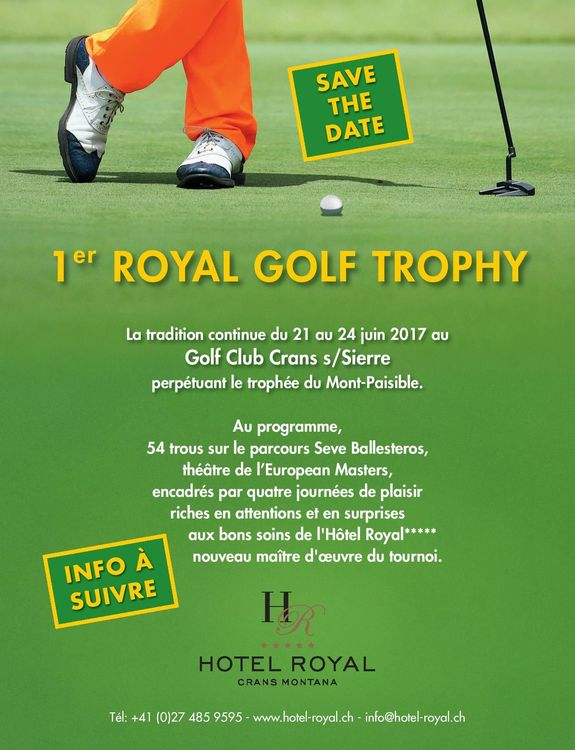 Royal golf trophy supported by omega cover picture
