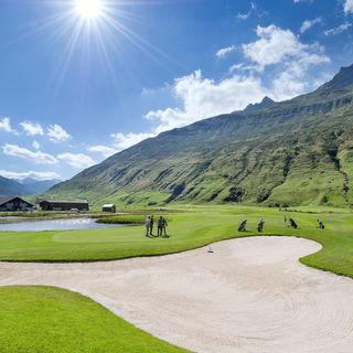 Andermatt swiss alps golf course cover picture