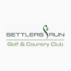 Logo of golf course named Settlers Run Golf & Country Club