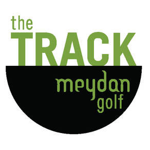 Logo of golf course named The Track, Meydan Golf