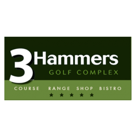 Logo of golf course named 3 Hammers Golf Complex