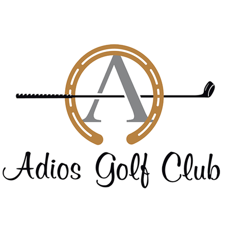 Logo of golf course named Adios Golf Club