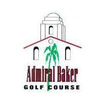 Logo of golf course named Admiral Baker Golf Course