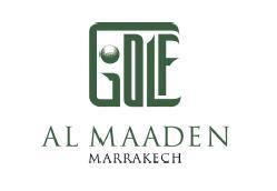 Logo of golf course named Al Maaden Golf Resorts