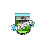 Logo of golf course named Albany Golf and Event Center