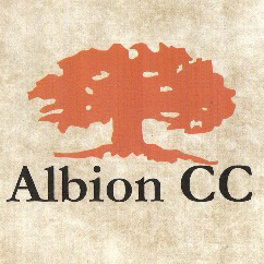 Logo of golf course named Albion Country Club
