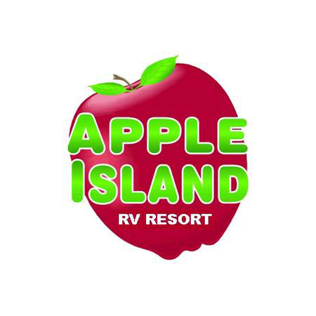 Logo of golf course named Apple Island Resort