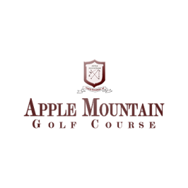Logo of golf course named Apple Mountain Golf and Country Club