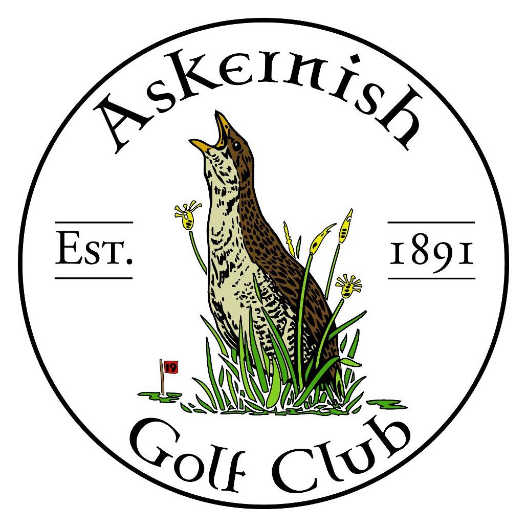 Logo of golf course named Askernish Golf Club