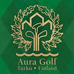 Logo of golf course named Aura Golf