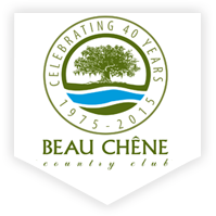 Logo of golf course named Beau Chene Golf and Racquet Club