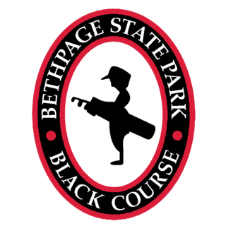 Logo of golf course named Black Course at Bethpage State Park Golf