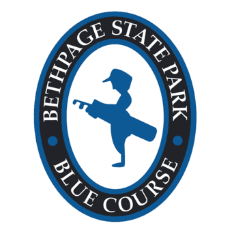 Logo of golf course named Blue Course at Bethpage State Park Golf