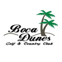 Logo of golf course named Boca Dunes Golf and Country Club