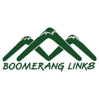 Logo of golf course named Boomerang Links