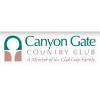 Logo of golf course named Canyon Gate Country Club