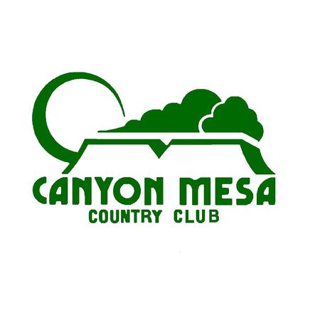 Logo of golf course named Canyon Mesa Country Club