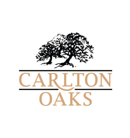 Logo of golf course named Carlton Oaks Lodge and Country Club