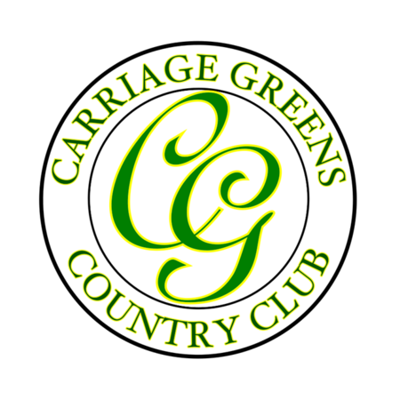 Logo of golf course named Carriage Greens Country Club