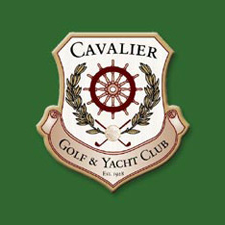 Logo of golf course named Cavalier Golf and Yacht Club