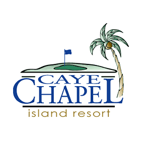 Logo of golf course named Caye Chapel Golf Resort