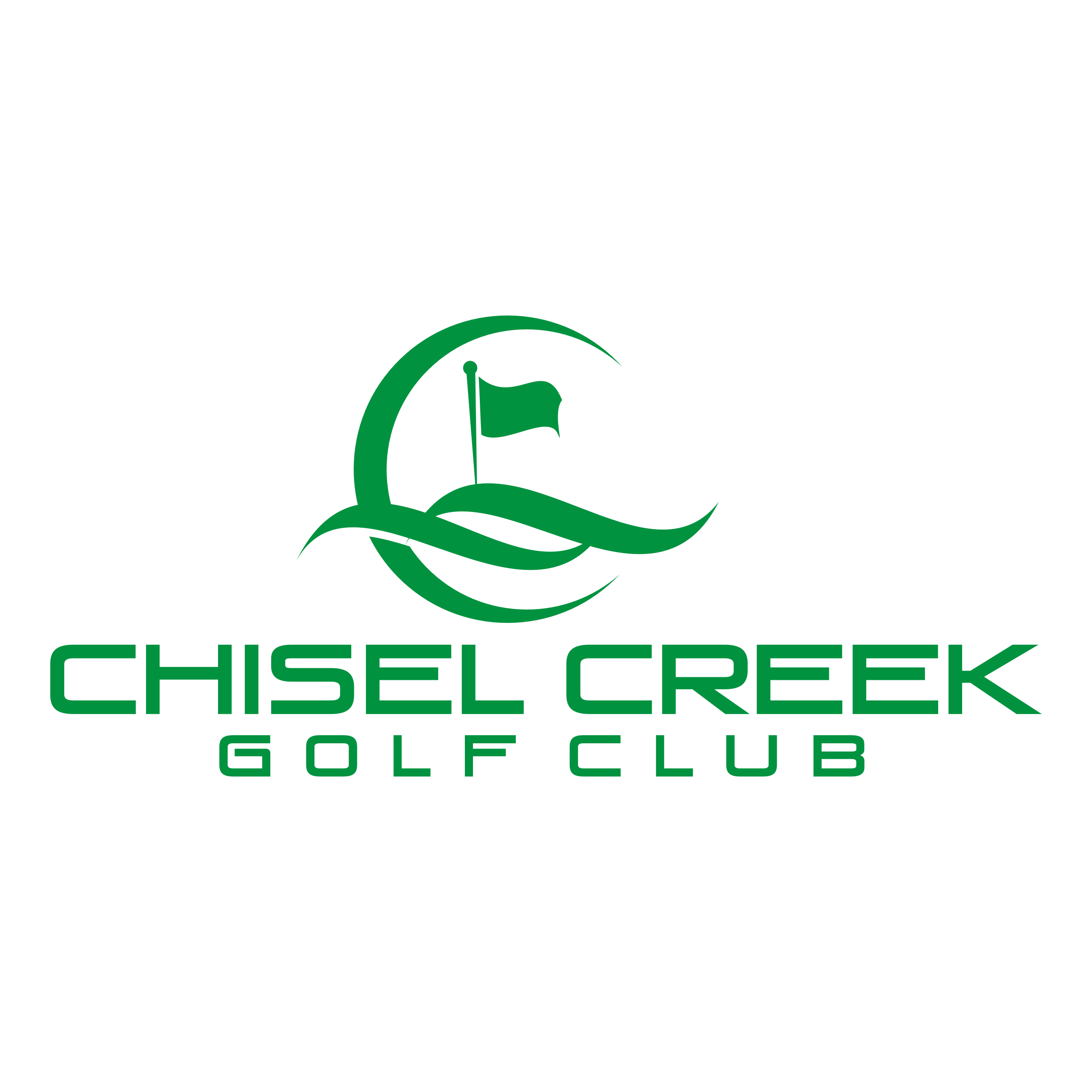 Logo of golf course named Chisel Creek Golf Club