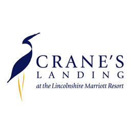 Logo of golf course named Crane's Landing at The Lincolnshire Marriott Resort