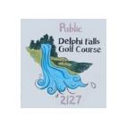 Logo of golf course named Delphi Falls Golf Course