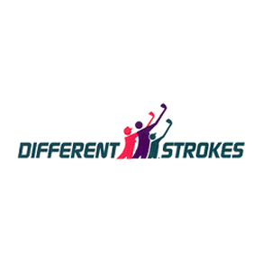 Logo of golf course named Different Strokes/New Cut