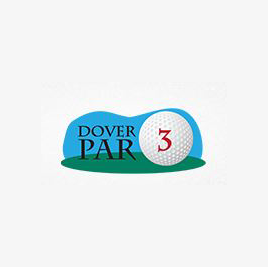 Logo of golf course named Dover Par 3 and Driving Range