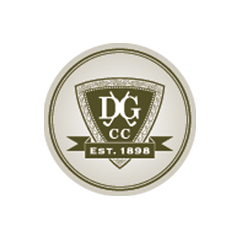 Logo of golf course named Dubuque Golf and Country Club