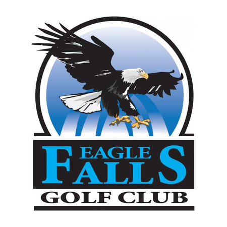 Logo of golf course named Eagle Falls Golf Club
