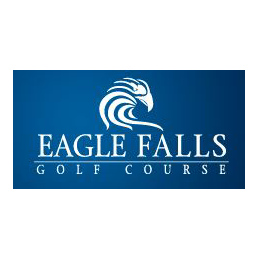 Logo of golf course named Eagle Falls Golf Course