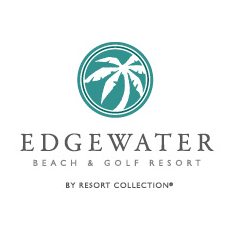 Logo of golf course named Edgewater Beach Resort and Golf Course