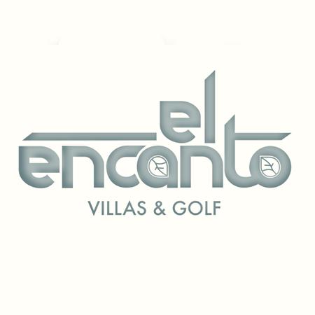 Logo of golf course named El Encanto Villas and Golf