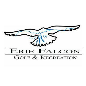 Logo of golf course named Erie Falcon Golf and Recreation