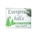 Logo of golf course named Evergreen Hills Golf Course and Driving Range