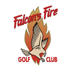 Logo of golf course named Falcon's Fire Golf Club