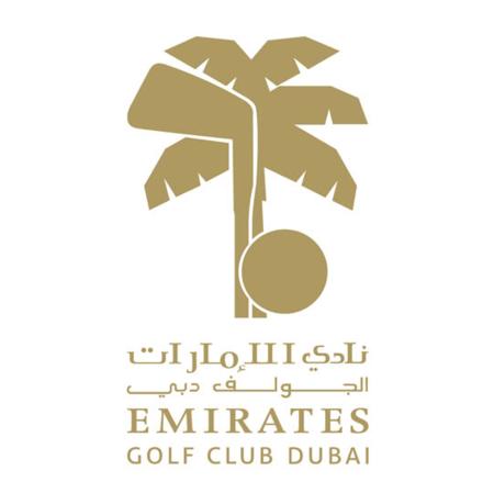 Logo of golf course named Faldo at Emirates Golf Club