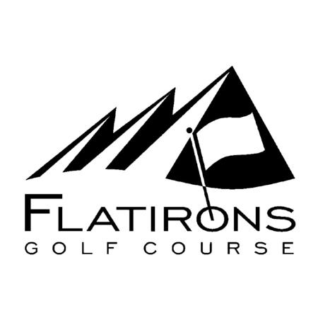 Logo of golf course named Flatirons Golf Course