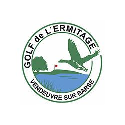 Logo of golf course named Golf de L'Ermitage